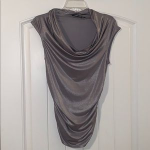 Forever 21 scoop neck blouse, size large